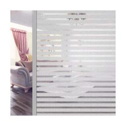 kueatily Aufkleber Fensterfolie selbstklebende undurchsichtige Sichtschutzfolie Fensterfolie Anti-UV-Mattglasfolie für Zuhause, Badezimmer oder Büro (Streifen, 45 x 400 cm)