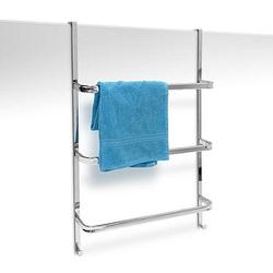 relaxdays Handtuchhalter   silber