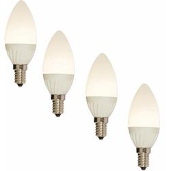 näve LED Leuchtmittel E14 Kerze LED-Leuchtmittel, E14, 4 Stück, Warmweiß, Set - 4 Stück