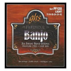 GHS PF120 Banjo Saiten Light für 6-String Banjo