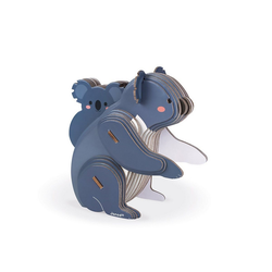 Janod Puzzle Janod-WWF® Puzzle 3D Koala 42 Teile, 42 Puzzleteile blau