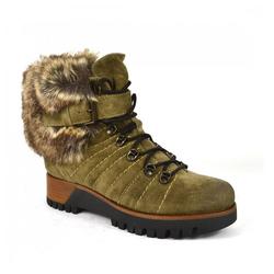 Manas Boots Fake Fur Stiefel Khaki 36
