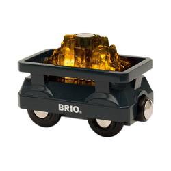 BRIO® Spielzeug-Eisenbahn Goldwaggon mit Licht