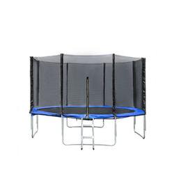 Trampoline avec filet de protection 427cm jouet enfant sport à domicile en plein air en sécurité