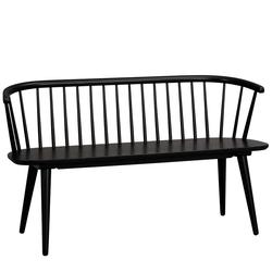 Retrostil Sitzbank in Schwarz 45 cm Sitzhöhe