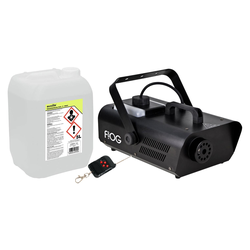 Involight FOG 1200 Nebelmaschinen Set inkl. Smoke Fluid, 5L