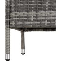 Tectake Gartensitzbank 131 x 59 x 82 cm grau inkl. Tisch
