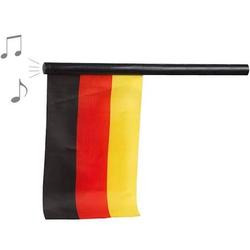 WM Fahne Deutschland mit der ein und ausschaltbaren Nationalhymne