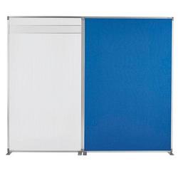 magnetoplan   Stellwand blau 125,0 x 180,0 cm
