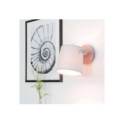 Licht-Erlebnisse Wandstrahler CLICK Wandeuchte Wohnzimmer Grau Metall Stoff schwenkbar Flur Leselampe Lampe