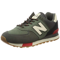 NEW BALANCE Herren 574v2 Sneaker, Grün (Green/Red Green/Red), 40.5 EU