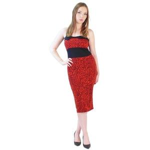 Rockabilly Neckholder Leopard Kleid