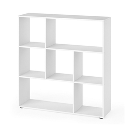 Vicco Raumteiler NOVE 7 Fächer Weiß - Bücherregal Würfelregal Standregal Regal