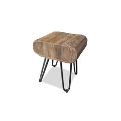 MÖBEL IDEAL Tisch Ella, aus Teak Massivholz - 35 x 40 cm