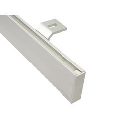 Gardinenstangen eckig alu silber Deckenmontage (400 cm (2 x 200 cm))