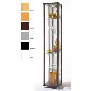 Sammlervitrine mit Spiegel und Beleuchtung ahorn buche silber und mehr