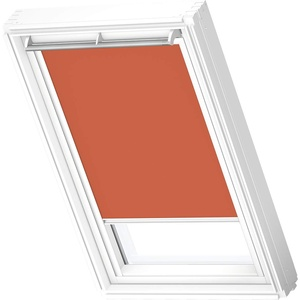 VELUX Original Verdunkelungsrollo (DKL), Weiße Seitenschienen, S08, 608, Orange
