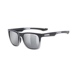 Uvex Sonnenbrille Sonnenbrille lgl 42 black transparent/mir.silver