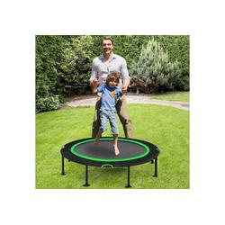 COSTWAY Kindertrampolin Mini Trampolin, Fitness Trampolin, Gartentrampolin, φ 120 cm, bis 65kg belastbar, Indoor- und Outdoortrampolin grün