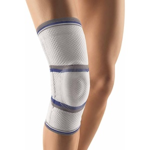 Bort StabiloGen® latexfrei Knie Gelenk Bandage Stütze Stabiliersung Entlastung, silber, S