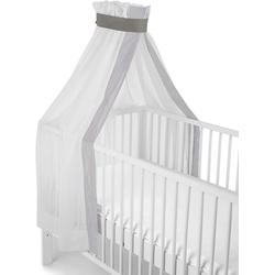 Sterntaler® Betthimmel weiß-grau, für Kinderbett