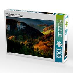 Herbstfarben im Jura (Schweiz) Lege-Größe 64 x 48 cm Foto-Puzzle Bild von Sandra Schänzer Puzzle