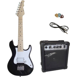 MSA Musikinstrumente Style 3 E-Set E-Gitarren-Set Schwarz