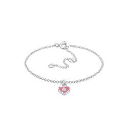 Elli Armband Kinder Herz Bunt Kristalle 925 Silber, Herz