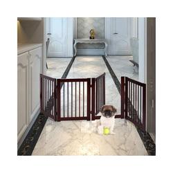 COSTWAY Hundegitter Hundeschutzgitter, Schutzgitter Treppengitter Absperrgitter Türschutzgitter 4 Stücke