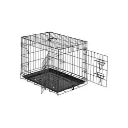 tectake Tiertransportbox Hundebox Gitter tragbar 60 x 44 x 51 cm