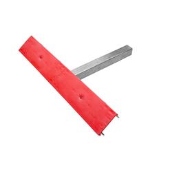 Rote Doppelseitenstütze für Bootsanhänger - PZ2 H=400 mm