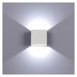 TOPMELON LED Wandleuchte, LED Wandstrahler, 6W Außenlampe, Für Innen- und Außenbeleuchtung weiß