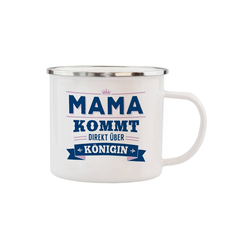 HTI-Living Becher Echter Kerl Emaille Becher Mama, Emaille