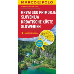 MARCO POLO Karte Kroatische Küste Slowenien 1:300 000