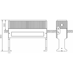 ABN Braun Hochwassersockel Gr.1 FB3 Höhe 1125mm SX031