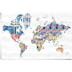 Reinders Poster Welt der Briefmarken, (1 St.) bunt Bilder Bilderrahmen Wohnaccessoires
