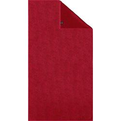 Joop! Duschtuch Uni Cornflower (1-St), mit gewebtem Cornflower Muster rot