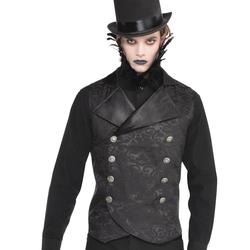 Halloween Adult Dark Side Vest Accessory Halloween Costume, Size: One Size, Black/Silver