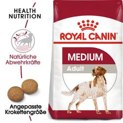ROYAL CANIN MEDIUM Adult Trockenfutter für mittelgroße Hunde 15kg +3 kggratis
