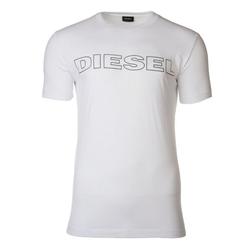 Diesel Unterhemd Herren T-Shirt, UMLT-JAKE HEMD, Rundhals, Print, weiß XXL