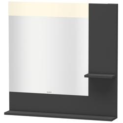 Duravit Spiegel VERO 142 x 800 x 800 mm, Beleuchtung graphit matt