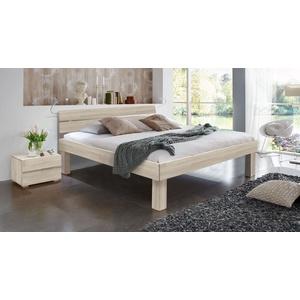 Seniorenbett 100x200 cm Buche weiß - Madrid Komfort