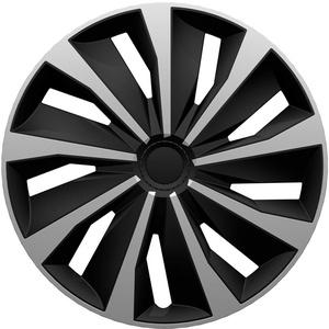 """AUTOSTYLE GRIP 16"""" SILVER/BLACK Radzierblenden Grip 16-Zoll Silber/Schwarz"""