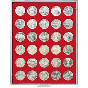 LINDNER Das Original Münzbox Standard mit 30 runden Vertiefungen für Münzen mit Ø36 mm