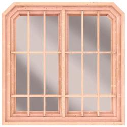 Karibu Fenster, BxT: 126x127 cm, für Pavillon Roma