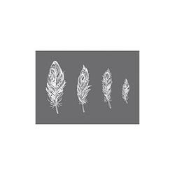 Rayher Siebdruckschablone 4 Federn grau