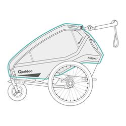 Qeridoo Regenschutz für Fahrradanhänger ab 2020 Modelle