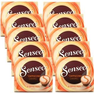 10x 8 Senseo Kaffee Pads Typ Cappuccino Caramel für Doppelhalter aromatisiert