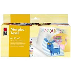 Marabu Stoffmalfarbe 6 x 15,0 ml