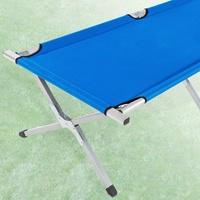 Tectake Feldbett 2er Pack blau (402002)